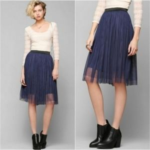 Urban Outfitters | Pins & Needles Navy Tulle Skirt